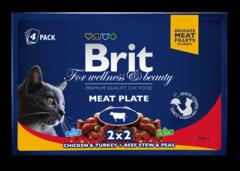 "Паучи для кошек, Brit Premium Cat, ""Мясная тарелка"""