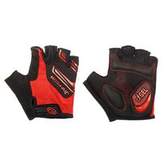 Велоперчатки JAFFSON SCG 46-0331 (чёрный/красный)