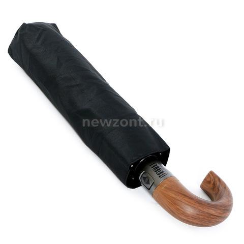 Складной мужской зонт 10 спиц автомат Lamberti черный