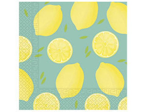 Салфетка Лимоны 33см 20шт/Р