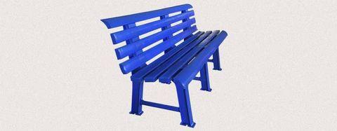 Пластиковая скамья полимерная синяя