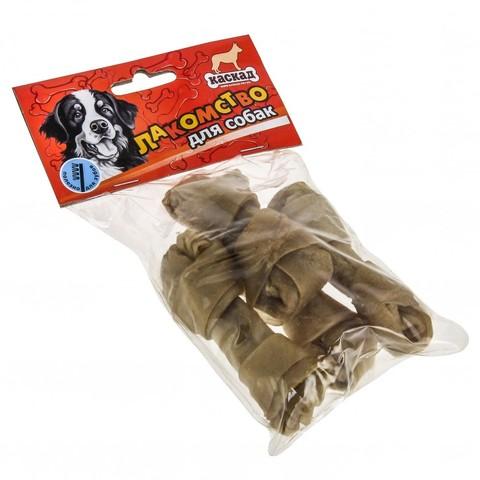Кость из жил с узлами в блистере (10см (25-30гр.)) 4шт в упаковке