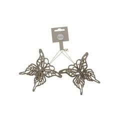 Подсеска бабочка 2шт 10х9х1.5см House of Seasons шампань