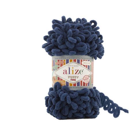 Купить Пряжа Ализе Пуффи Файн Код цвета 93 Темно-синий   Интернет-магазин пряжи «Пряха»
