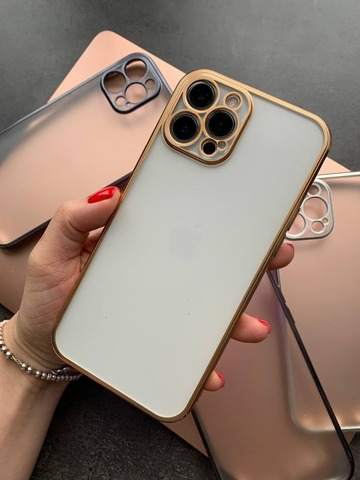 Чехол iPhone 12 Pro Shining Matte Full Camera /gold/