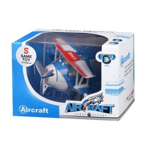 Самолет металический инерционный Same Toy Aircraft синий со светом и музыкой SY8012Ut-2
