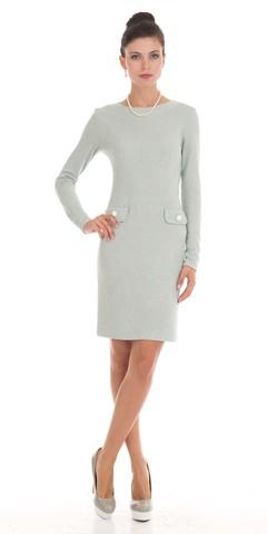 Фото приталенное платье-футляр до колена с длинными рукавами - Платье З790-442 (1)