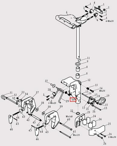 Пружина для лодочного мотора F9.8 Sea-PRO (13-30)