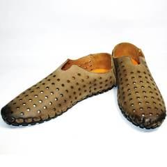 Мужские туфли на лето Luciano Bellini 107703 Beige.