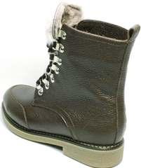 Коричневые ботинки женские зимние купить Studio27 576c Broun.