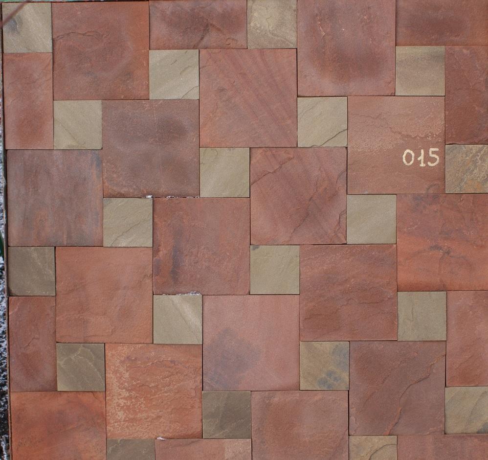 набор плитки песчаник пиленный Квадраты образец