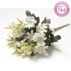 Искусственные цветы Герберы мелкие, букет 6 веток, 28 см.