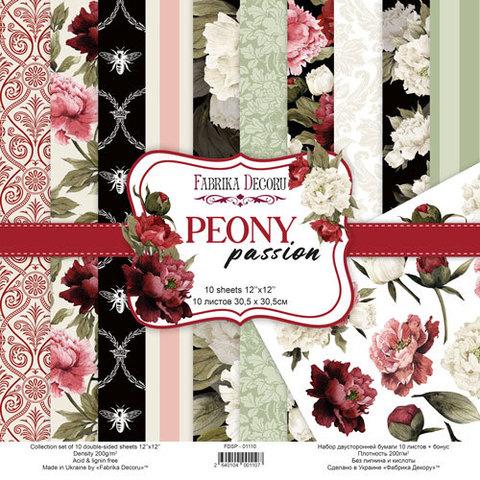 Набор скрапбумаги Peony passion 30,5x30,5 см 10 листов