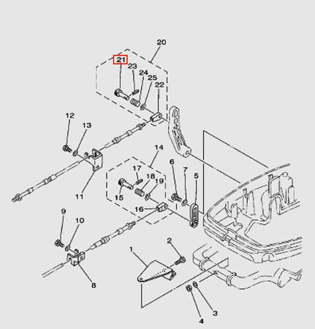 Штифт подсоединения троса ДУ1 Т30EР (13-21W)