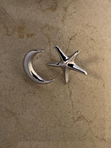 Серьги Меданчи, серебряный цвет
