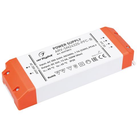 Блок питания ARV-SN24320-PFC-B (24V, 13.3A, 320W) (ARL, IP20 Пластик, 3 года)