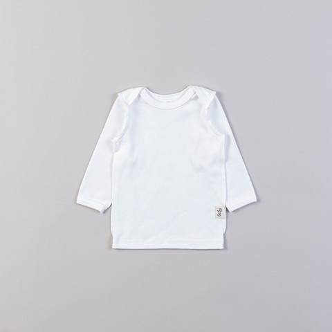 Long-sleeved T-shirt 0+, Heavy Cream