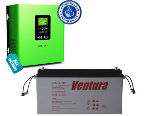 Комплект ИБП ECOVOLT TERMO 812+VENTURA GPL 12-150