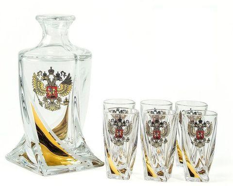 Подарочный набор для водки из хрусталя «Атташе»: 1 штоф 500 мл и 6 стопок 60 мл