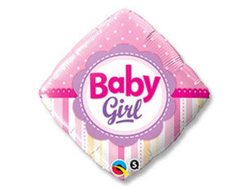Фольгированный шар ромб Новорожденная девочка
