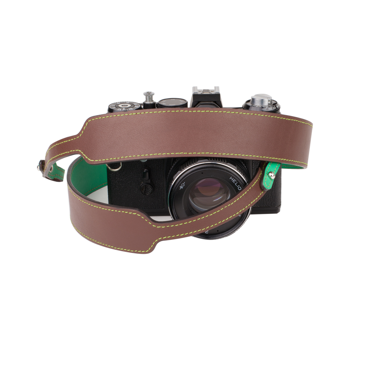 Camera strap in brown color