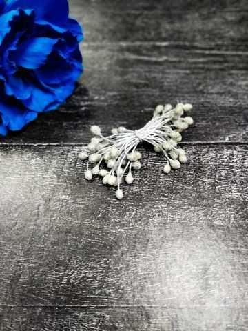Тычинки 35 нитей, серебро в сахаре. №4979