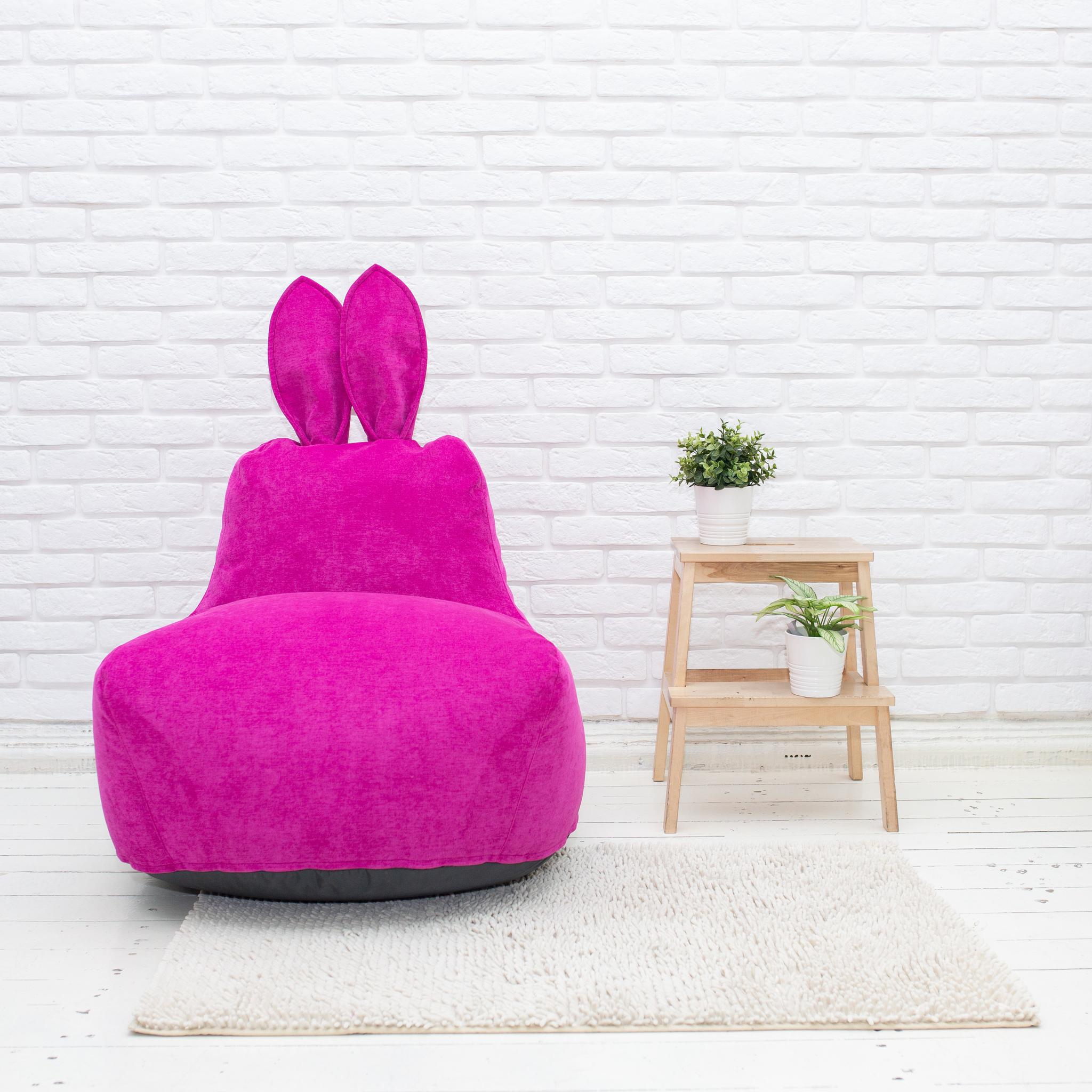 Кролик M микровельвет (фуксия)