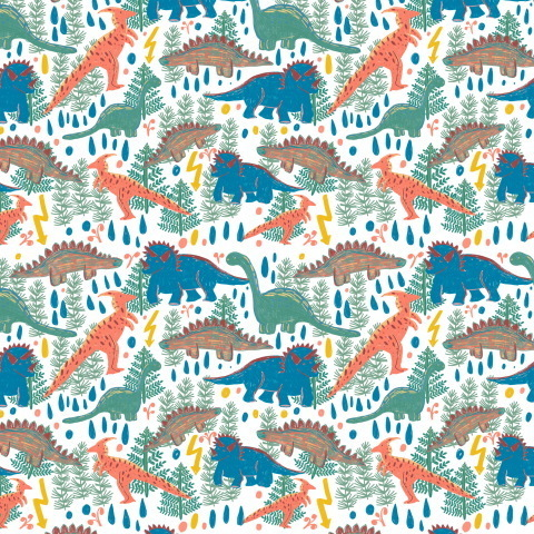 Нарисованные динозавры