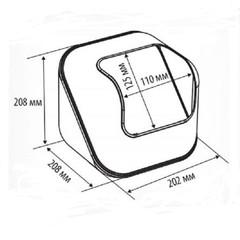 Дисплей универсальный Cube для выкладки мелких продуктов прозрачный