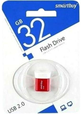 Флеш-накопитель USB  32GB  Smart Buy  Lara красный