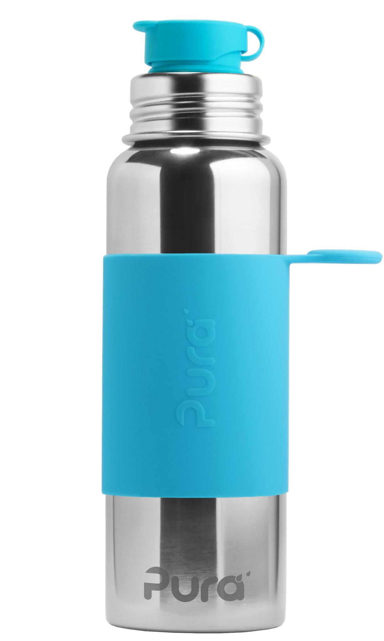 Стальная спортивная бутылка Pura 850 мл (голубой)