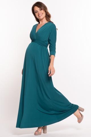 Платье для беременных 10623 зеленый