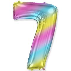 Цифра 7 Градиент Радуга (1м)