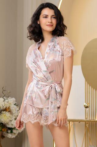 Шелковая пижама-тройка с шортикми Mia Amore Милинда (70% нат.шел