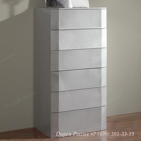 Комод вертикальный DUPEN (Дюпен) S-102 Серебро