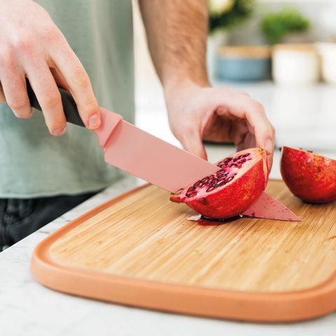 Нож поварской 19см Leo (розовый)