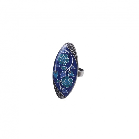 Кольцо Цветы K77111-1 BL