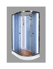 Душевая кабина DETO ЕМ1511 L N 110х80 см с LED-подсветкой