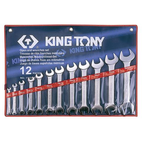 KINGTONY (1112MR) Набор рожковых ключей, 6-32 мм, 12 предметов