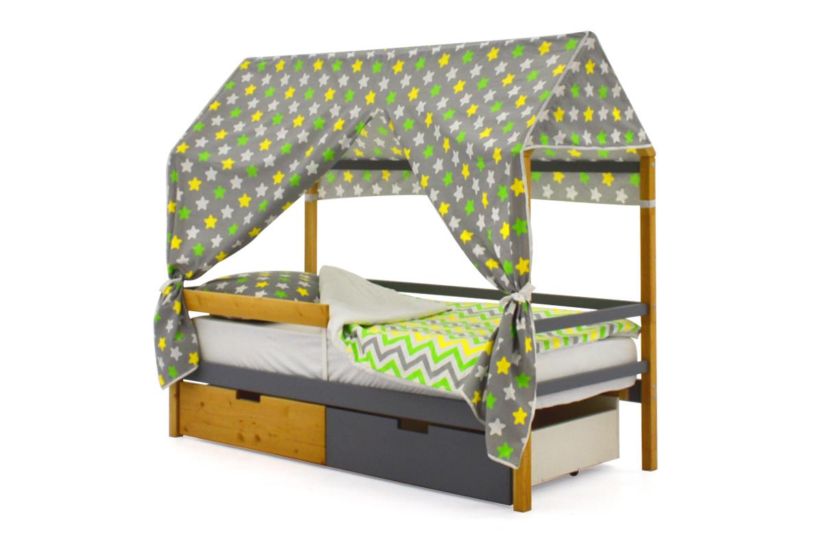 Кровать-домик «Svogen дерево-графит»