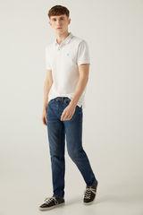 Легкі джинси крою слим темного відтінку