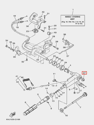 Шайба для лодочного мотора F20 Sea-PRO (16-27)