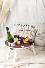 Складной столик для вина, винного оттенка, фото 3