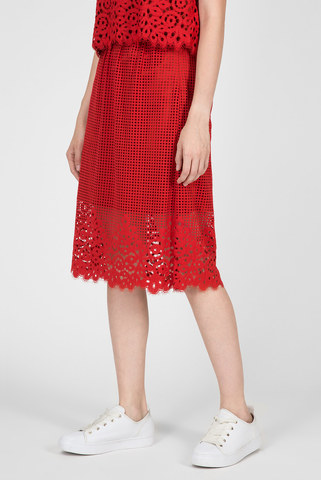 Женская красная юбка Tommy Hilfiger