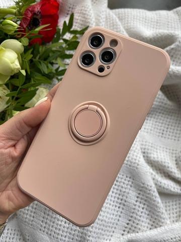 Чехол iPhone 11 Pro Silicone Full Camera Ring /grapefruit/