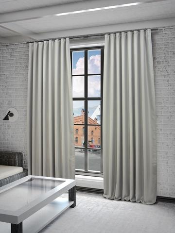 Готовые шторы Твила серый
