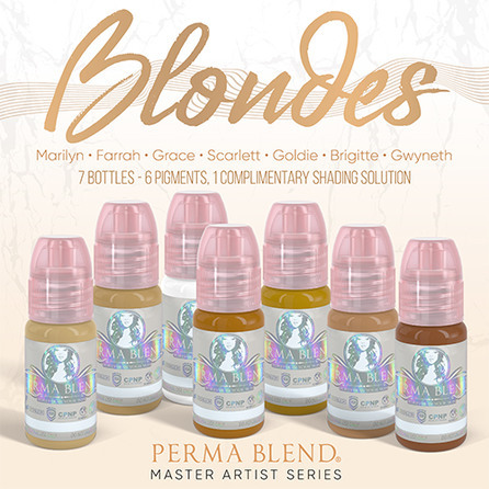 """Сет пигментов для бровей  """"Blondes Set"""" от Permablend"""