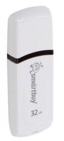 Флеш-накопитель USB  32GB  Smart Buy  Paean белый