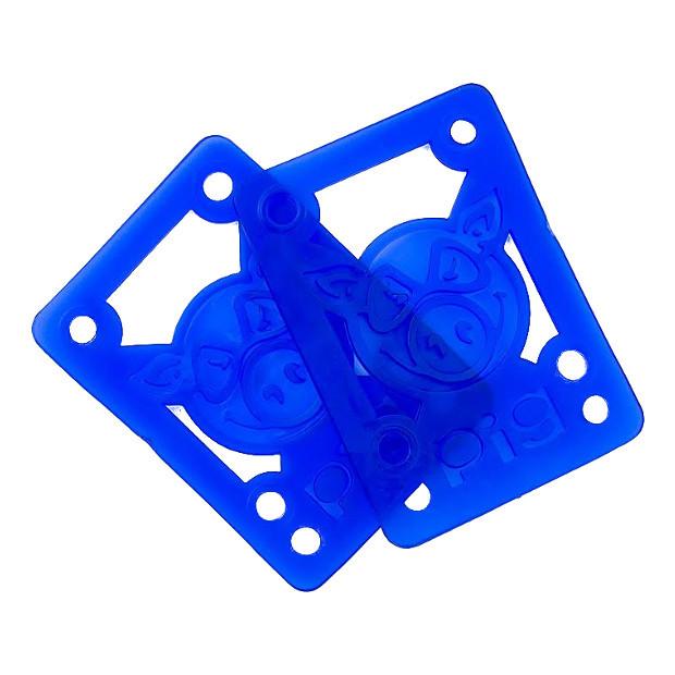 Подкладки под подвеску скейта PIG Piles Soft Shockpads (Blue)