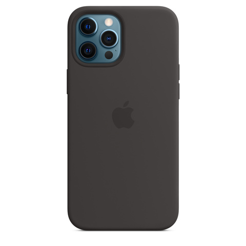 Apple Silicone Case на iPhone 12 Pro Max (Черный)